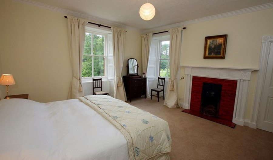 One of the seven bedrooms at Kirkland House