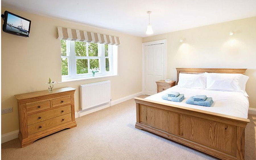 One of the five bedrooms at Laylands in Wells-next-the-Sea