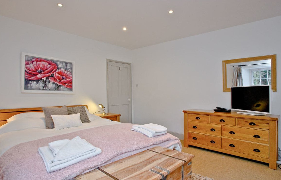 One of the four bedrooms at Lower Margate in Bodmin