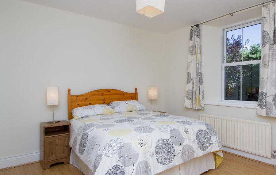 One of the five bedrooms at Mole Cottage in Northumberland
