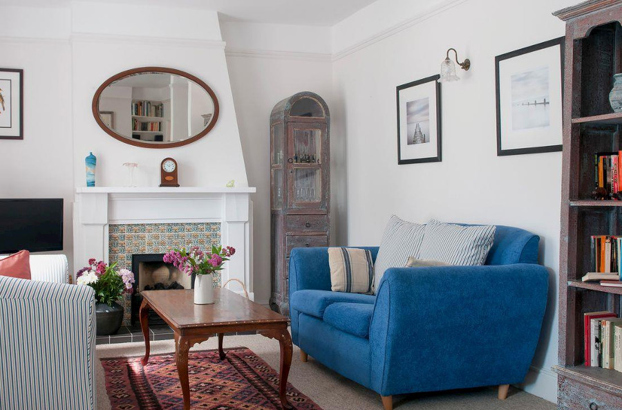 The living room at Myrtle Cottage in Ventnor, Isle of Wight