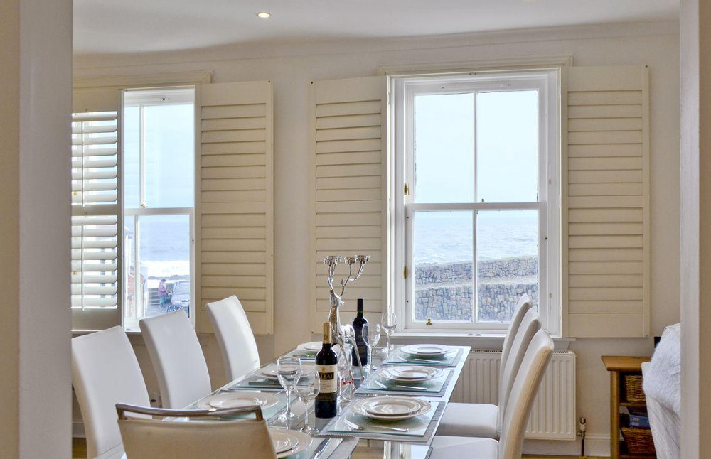The dining area at Nautilus Cottage near Anstruther