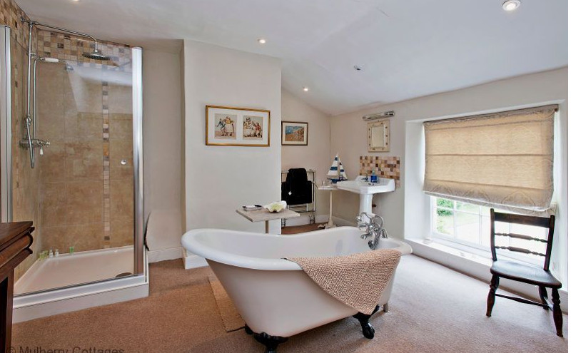 One of the lovely bathrooms at Norfolk Rectory in Oxborough