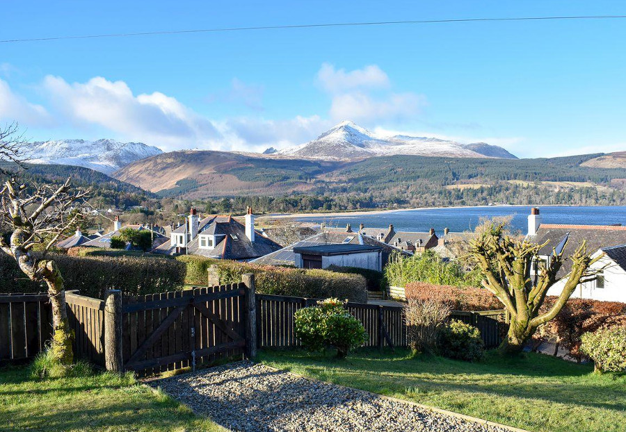 Enjoy the views over Brodick Bay from Ormiston