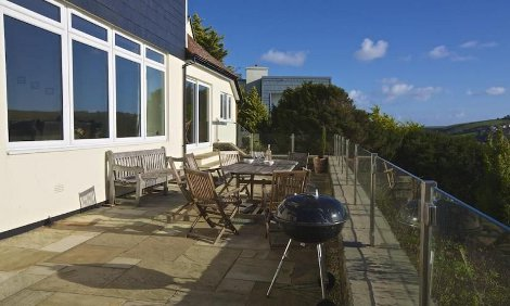 The terrace at Overcombe in Salcombe