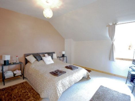 One of the bedrooms at Redwood House in Ayrshire
