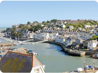 Views of Brixham harbour from<br />Sandy Bottom Cottage