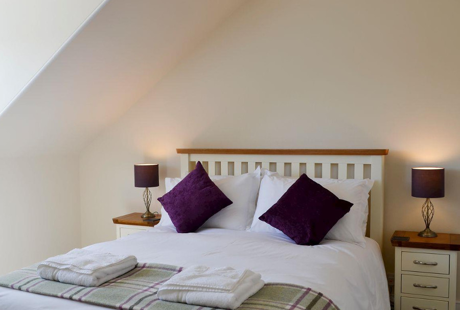 One of the four bedrooms at Scotson Hill Farmhouse in Elgin