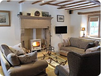 A cosy evening in at Sheepwalk Cottage