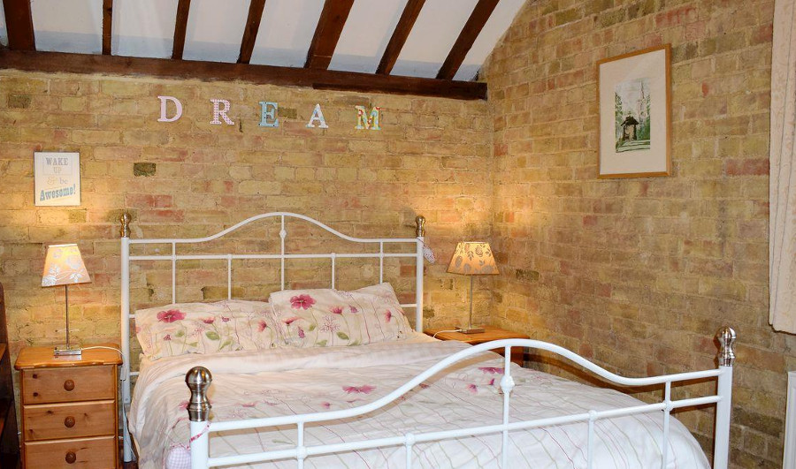 One of the bedrooms at Shire Barn in Cambridgeshire