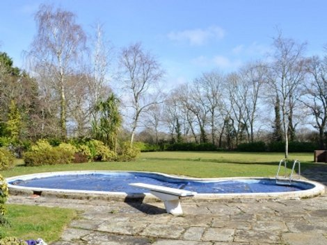 The swimming pool at Silverland near Lymington