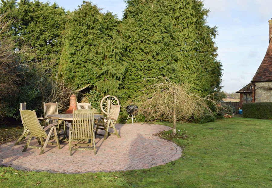 Springhead has a lawned garden, with outdoor furniture
