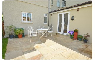 The patio at Springhurst, Dersingham