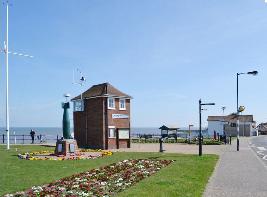 The area around The Castaway in Mundesley, Norfolk