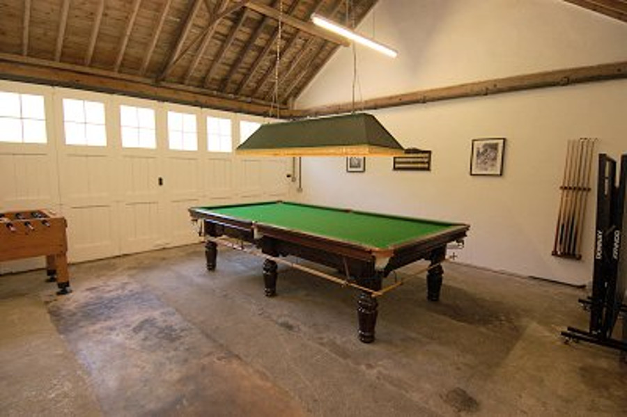 The games room at The Gate House in Dorset
