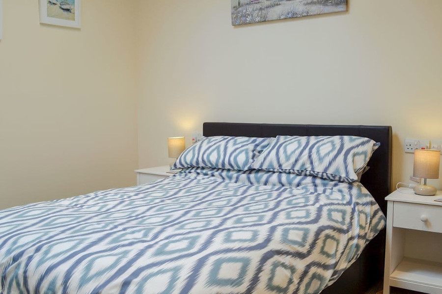 The double bedroom in The Hideaway, Sheringham