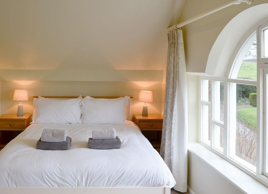 The double bedroom at The Old Chapel near Aylsham
