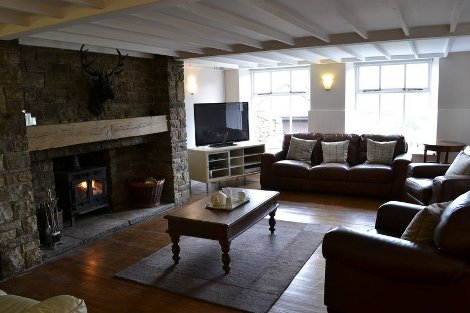 The living room at The Old School near Reeth