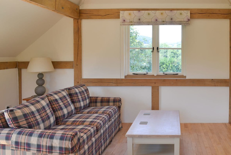 The Piglet has an open plan living room/dining area/kitchen