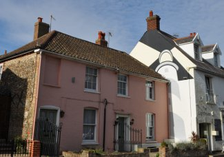 The Pink House in Aldeburgh, Suffolk