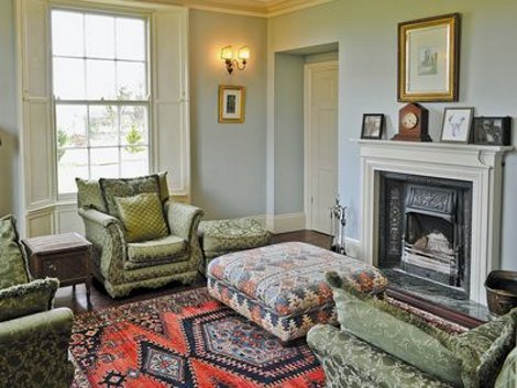 The living room at Tilney Hall in Norfolk