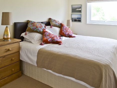 One of the bedrooms at Tipstream, Northumberland