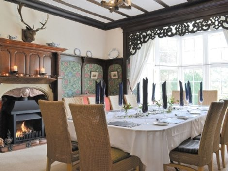 The dining room at Treburvaugh House, Knighton