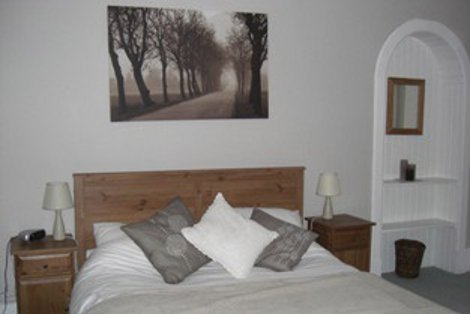 One of the bedrooms at Treetops in Newtonmore