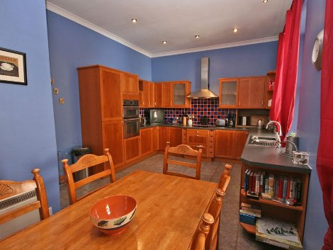 The kitchen and living area at Trossachs Gate, Aberfoyle