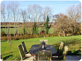 Enjoy the rural views at Udiam Farm Cottage