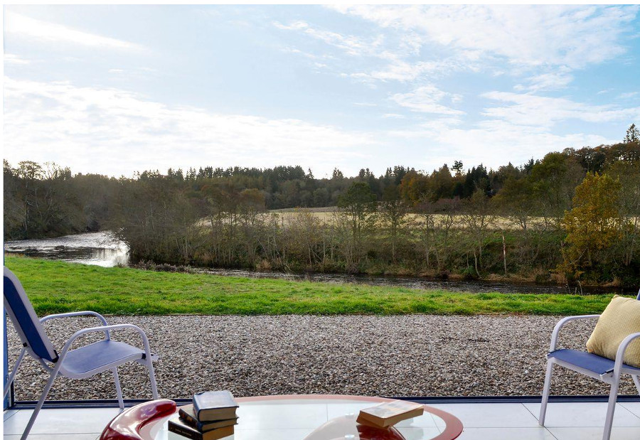 The garden at Wester Auchleuchrie has lovely views over Angus