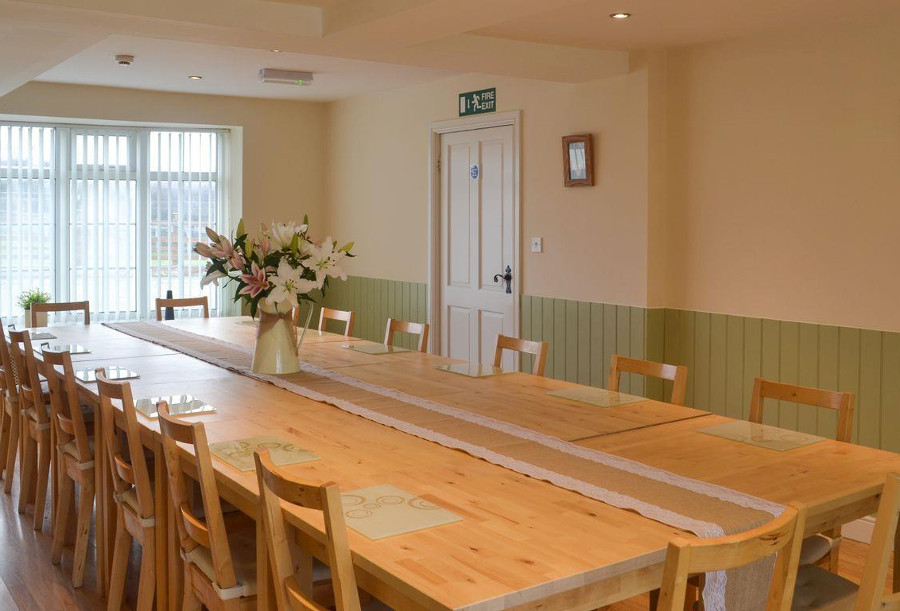 Whitton Lodge has a large dining room!