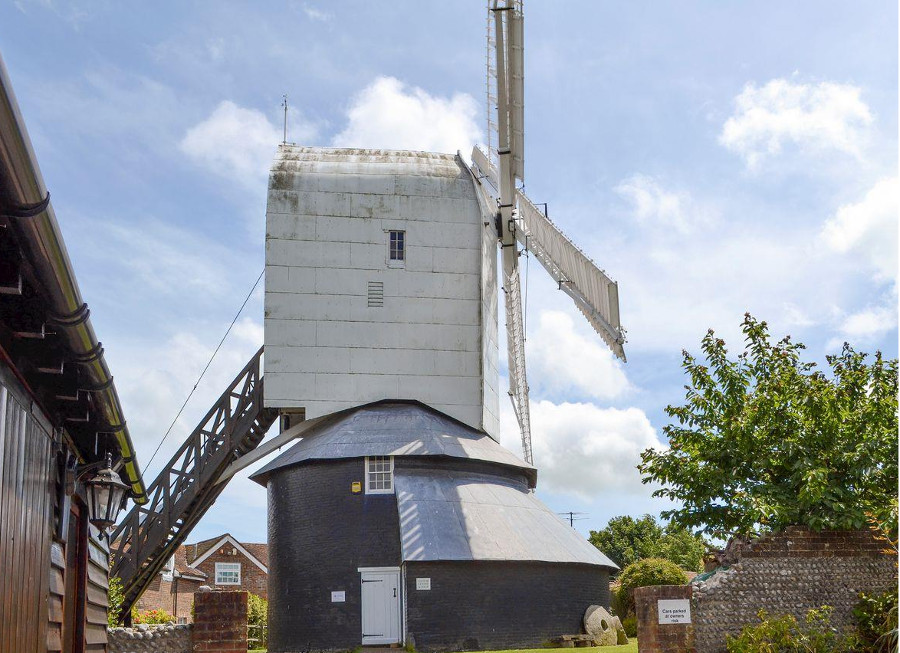 The windmill next to Windmill Barn in Windmill Hill