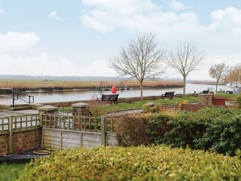 The views from Yare Cottage in Reedham