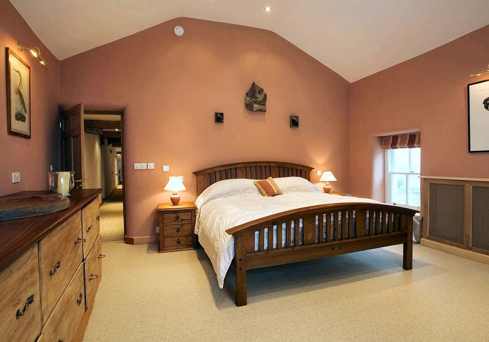 One of the seven bedrooms at Yew Tree Farm, near Penrith