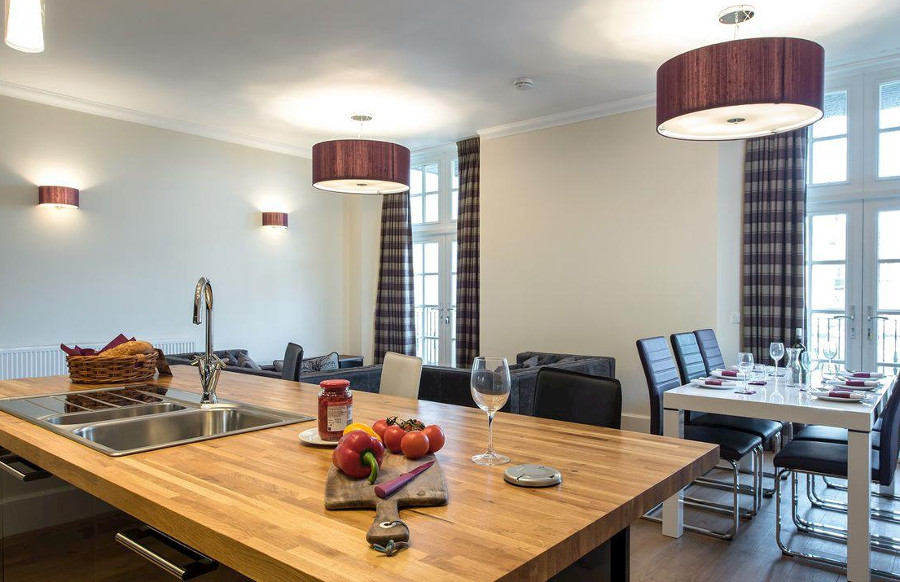 Inside one of the apartments at Ardconnel Court Apartments in Inverness