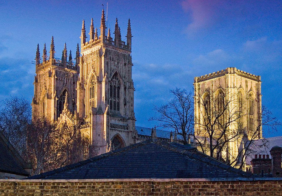 The views across to York Minster from Blake Mews