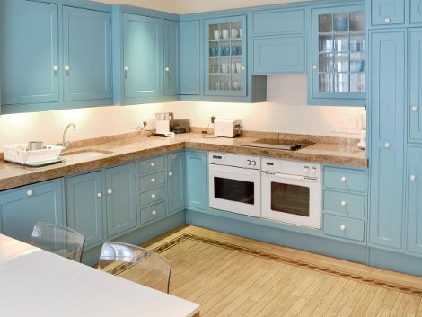 The kitchen at Coleherne Mews in Chelsea