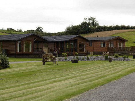 The lodges at Badgers Retreat Holiday Park in North Yorkshire