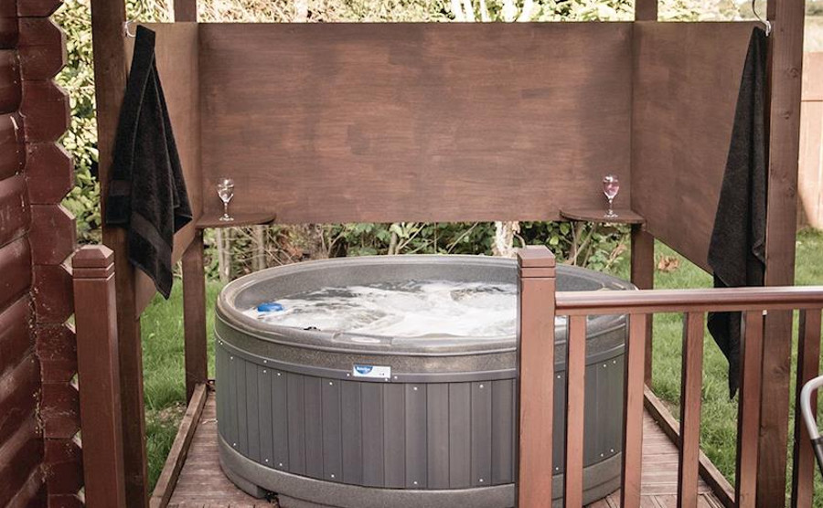 Each lodge at Great Hatfield Lodges has its own hot tub