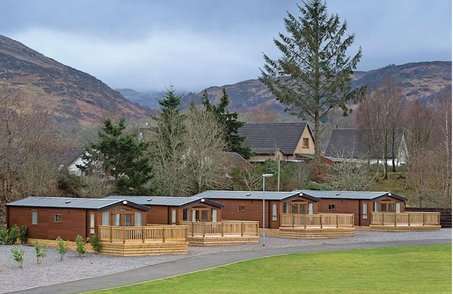 The setting of Loch Ness Retreat in Fort Augustus, Highlands