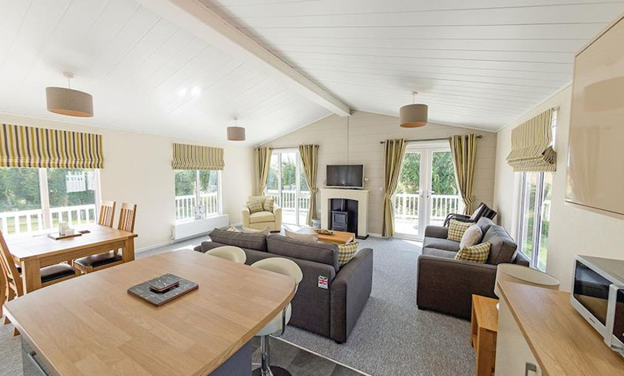 The living area at Mundesley Holiday Village, North Norfolk Coast