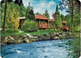 Riverside Log Cabins in Crieff, Perthshire