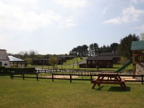 The playground and setting of Saundersfoot Pine Lodges