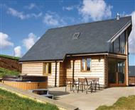 Slate House Lodges in Powys