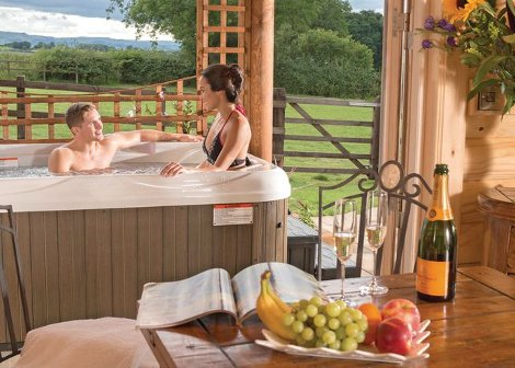 The hot tub at Sun Hill Lodges in Yorkshire