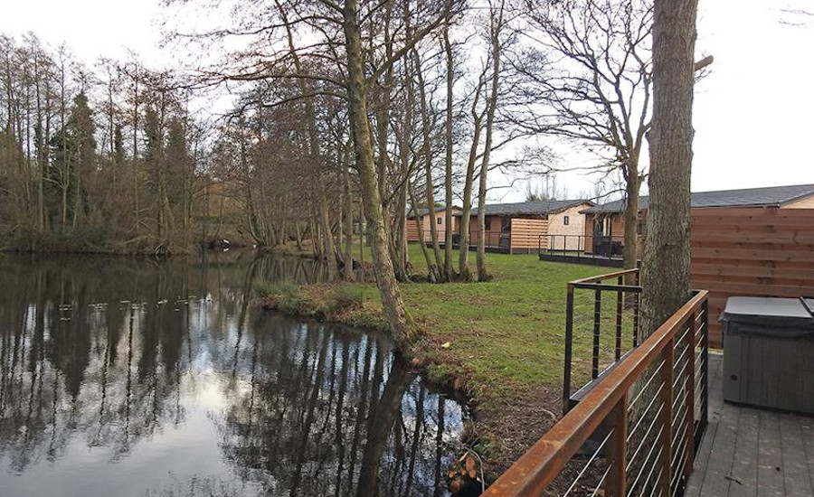 Warren Wood Country Park has lodges set around a lake