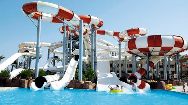 The water park at Coral Sea Water World in Sharm El Sheikh