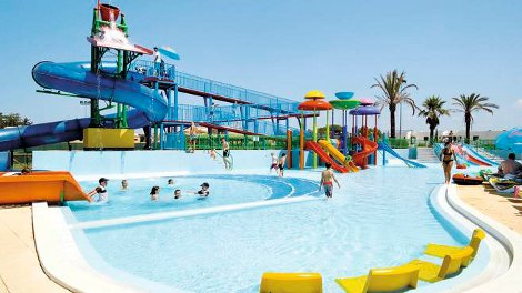 The water park at Holiday Village Algarve in Balaia