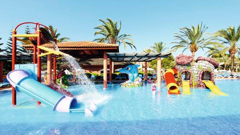 The water park at Holiday Village Viva on Majorca